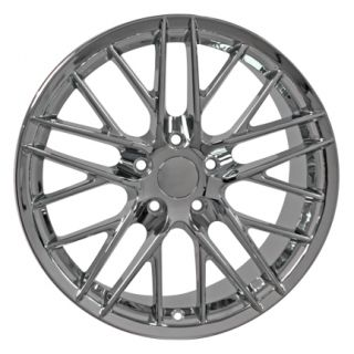 18 Corvette C6 ZR1 Chrome Wheels Set of 4 Rims Fits Chevrolet