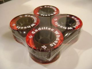 Cadillac Skateboard Wheels 70mm 80A Trans Red