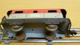 Marx 6 Caboose Train Car New York Central Line 20102 Tin Toy Red Gray