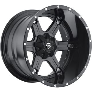 20x12 Black Fuel Driller Wheels 8x170  44 Lifted FORD F 250 F350