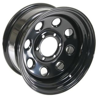 Summit Racing 85 Black Steel 8 Series Wheels 16x8 6x5 5 Set of 5