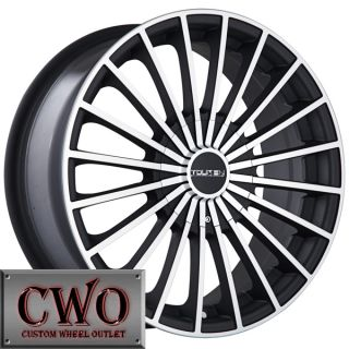 17 Black Touren TR50 Wheels Rims 4x100 4x114 3 4 Lug Civic Integra