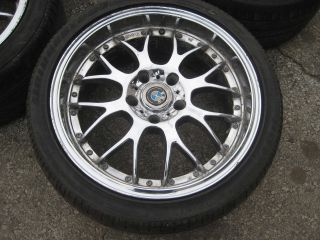 E39 18x8 Chrome Aftermarket Wheels w Tires Rims 97 03 525i 528i 540i