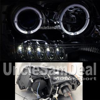 Jeep Grand Cherokee Dual Halo Rims Angel Eyes Projector Headlights