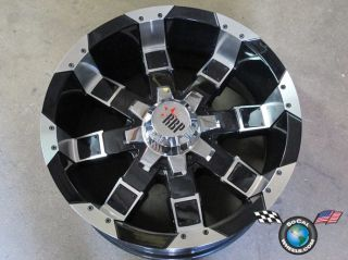 One RBP 95R 20x10  25mm Lifted Truck Offroad Racing Black Machined 5x5