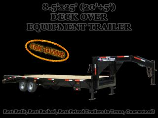 x25 (20+5) GOOSENECK DECK OVER EQUIPMENT TRAILER 16K GVWR
