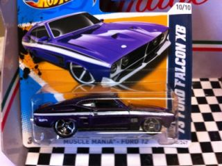 2012 Hot Wheels 73 Ford Falcon XB Purple Short Card VHTF