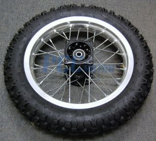 12 Silver Rear Rim Wheel Honda XR50 CRF50 125 SDG 107 12mm