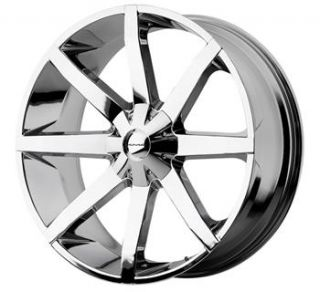 26x10 Chrome Wheels Rims KMC KM651 6x5 5