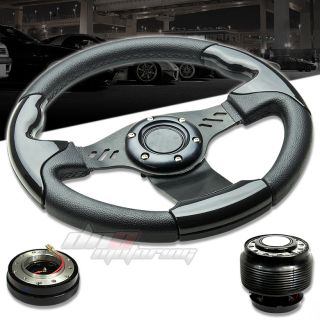 3pc Combo Quick Release Hub T390 Aluminum Racing Steering Wheel Civic