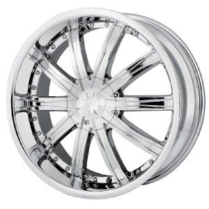 22 inch DIP Ice Chrome Wheels Rims 5x115 Lucerne Park Avenue Pasage