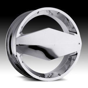 26 inch Vision Morgana Chrome Wheels Rims 6x135 30