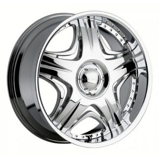 26 inch Akuza Sting Chrome Wheels Rims 5x5 5 5x139 7