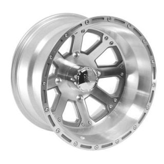 Summit Racing 159 ATV Series Machined Clear Coat Outback Wheel 14x8