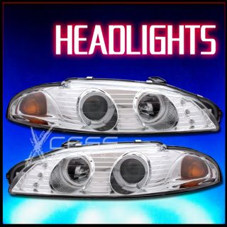 1997 1999 Mitsubishi Eclipse 1 Halo Projector Chrome Clear Headlight w