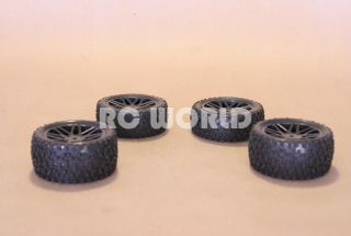 RC 1 10 Buggy Rims Tires Wheels Kyosho Tamiya Staggard Block