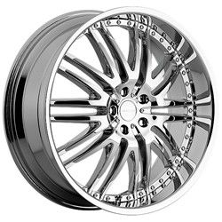 22 Inch Menzari Z04 Chrome Wheels Rims 5x112 +45 / Audi Q5 Mercedes ML