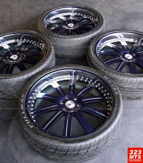26 AF134 ASANTI WHEELS USED RIMS & USED TIRES/ CUSTOM PAINT ASANTI