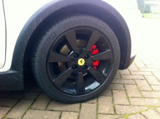 alloy wheels centre caps FERRARI LOGO FIAT & ABARTH grande punto 500