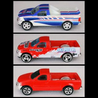 Hot Wheels Ford F150 F 150 Truck Pickup Model Diecast 1 64 Red Blue