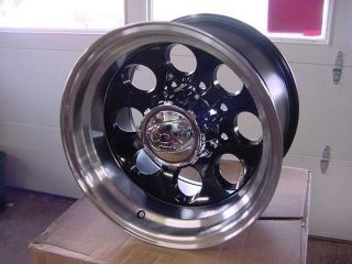 16x8 Black ion Chevy Dodge Ford 8 Lug 6 Lug Wheels