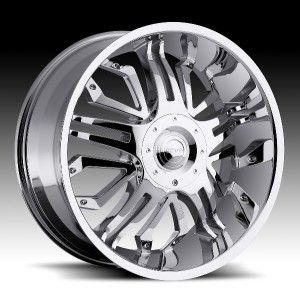 22 inch Gitano G 50 Chrome Wheel Rim 6x135 F150 Expedition Navigator