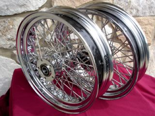 16X3.5 60 SPOKE FRONT & REAR WHEEL SET FOR HARLEY ROAD KING 2003 2007