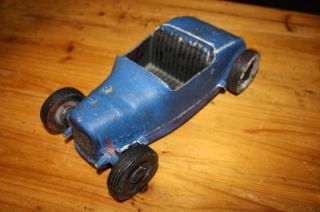 Vintage All American Hot Rod Tether Car 31 Ford Hot Rod Metal Toy Car