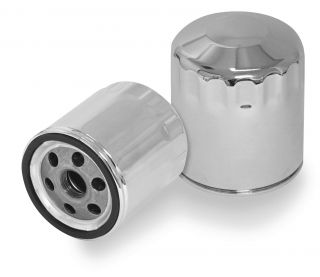 Bikers Choice Oil Filter Chrome Jo M25C Harley Davidson