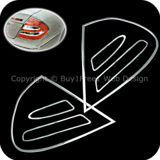 Benz W211 E Class Chrome Tail Light Trim Rear Lamp Rim Cover AUTO EHS