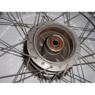 77 Honda XL100 XL 100 Rear Tire Wheel Rim Spokes Hub