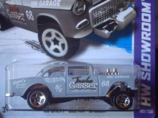 Hot Wheels 2013 New HW Showroom Series Grey 55 Chevy Bel Air Gasser