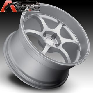RS06 Style 5x114 3 Silver Rim Wheels Fit Nissan 350Z 370Z 2011