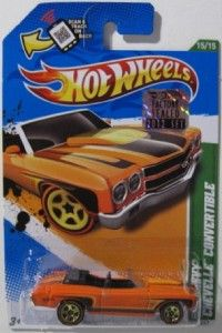 Hot Wheels Treasure Hunt 70 Chevy Chevelle Convertible 2012 Master