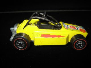 Redline Hot Wheels Yellow Rock Buster Redliner Car Hotwheels 1975