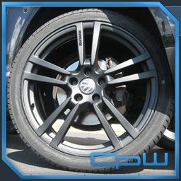 Porsche 22 inch Cayenne Wheel and Tire Package Turbo Matte Black Audi