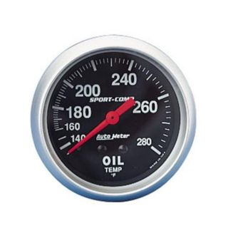 New Auto Meter Sport Comp Oil Temperature Temp Gauge Black 2 5 8