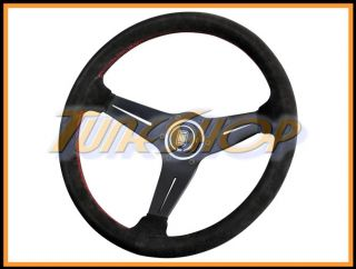 Italy Nardi Rally Deep Corn 350 mm Steering Wheel Black Suede Red