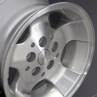 15 Rim Fits Jeep Wrangler Wheels Silver 15x8 Set