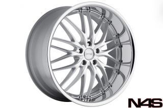 E65 E66 745 750 760 MRR GT1 SILVER STAGGERED RIMS WHEELS NEXEN TIRES