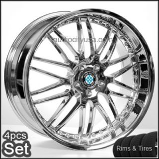 M46 Chrome Wheels and Tires for BMW Rims 3,5,7series M3 M5 M6 X3 X5 X6