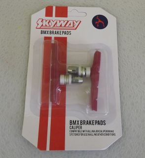 Skyway Tuff Wheels BMX Brake Pads Red New Old School BMX