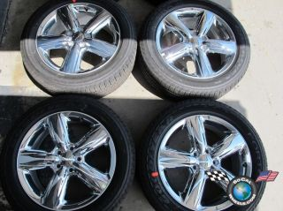 Dodge Durango Factory 20 Chrome Clad Wheels Tires Rims Cherokee