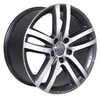 18 Rims Fit Audi Q7 Wheels Gunmetal 18x8 5 Set