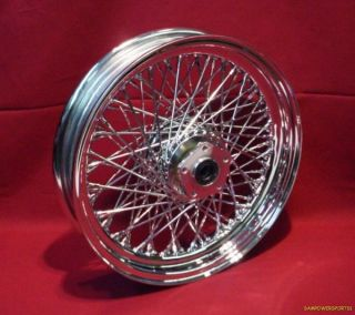 80 Spoke Chrome Front Wheel for Harley Softail 86 99