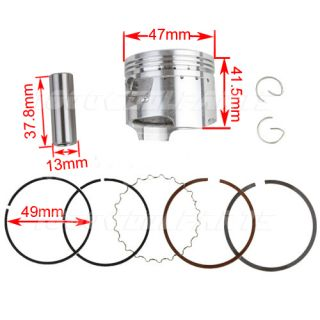 70cc Piston Rings Set Fits on 70cc ATV Dirt Pit Bike Engine SSR Sunl