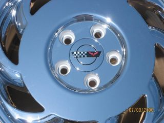 17 Factory Chevy Corvette C4 Chrome Wheel Rim 1 Left