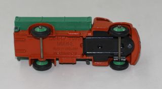 Dinky Toys 30M 414 Dodge Tipping Truck Orange Green Wheels Back
