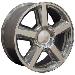 22x 9 Polished 5 Spoke Chevy Tahoe Suburban GMC Yukon 6 Lug Wheel