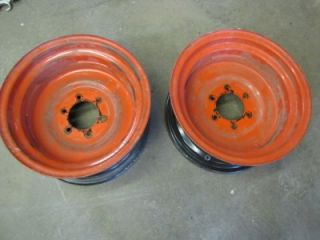 Kubota Tractor Wheels Rims 14 x 7 for Turf Tires or R4 Nice Set 6 Lug